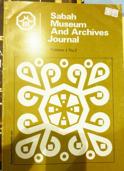 Sabah Museum And Archives Journal (1990, Vol 1