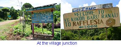 Junction of Kokob Village