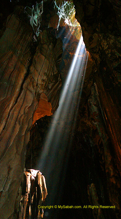 Light beams in the Cave