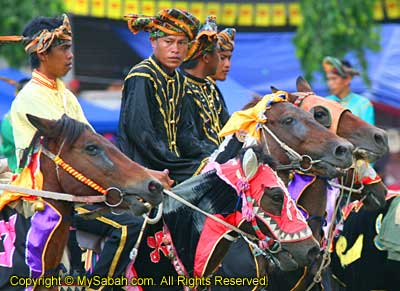 Parade by Bajau horseman