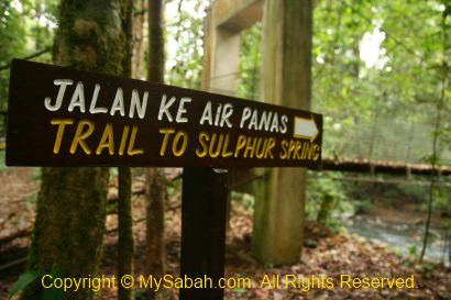 Trail to sulphurous spring