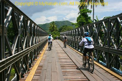 Steel bridge in Kota Belud
