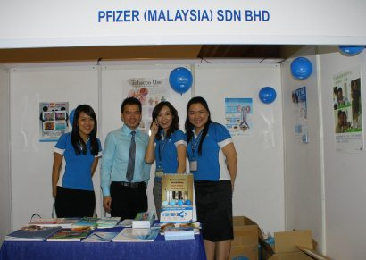 Exhibition booth of PFIZER