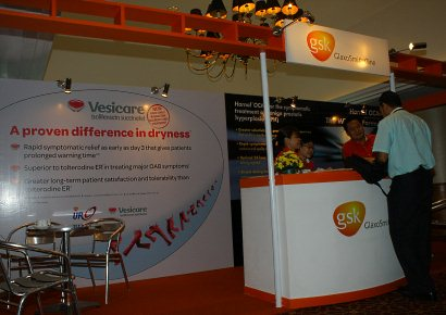 Exhibition booth of Vesicare
