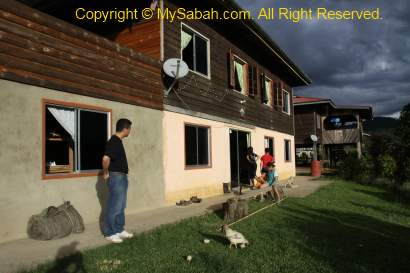 our homestay in Long Pasia