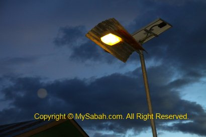 Street light powered by solar panel