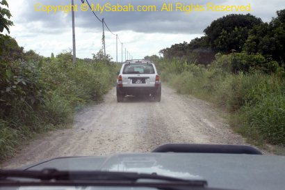 gravel road to Klias Peat Swamp Field Center