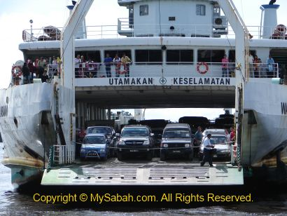 Ferry between Menumbok and Labuan