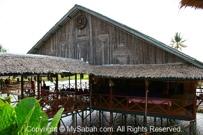 Activity hall of Linangkit Cultural Village