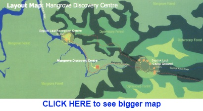 trail map to Sepilok mangrove discovery center