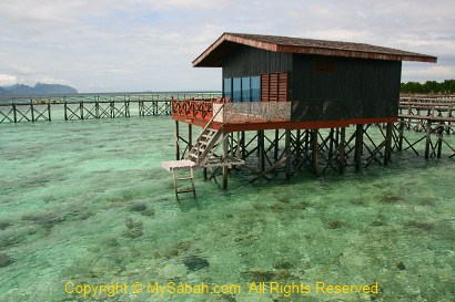 Water Villa of Pulau Pom-Pom