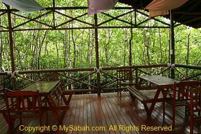 Dining Hall of Borneo Semporna Proboscis River Cruise