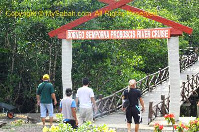entrance to Borneo Semporna Proboscis River Cruise
