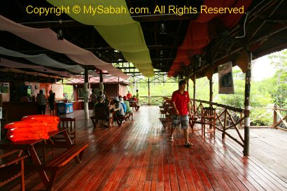 Activity & Dining Hall of Borneo Semporna Proboscis River Cruise