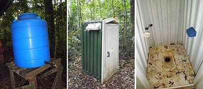 Toilet and Water Tank at Kulat Shelter