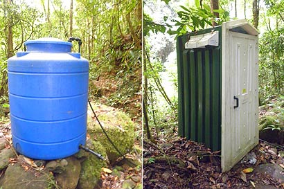Toilet and water tank at Kepuakan Camp