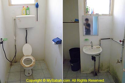 toilet and bathroom of Monggis substation