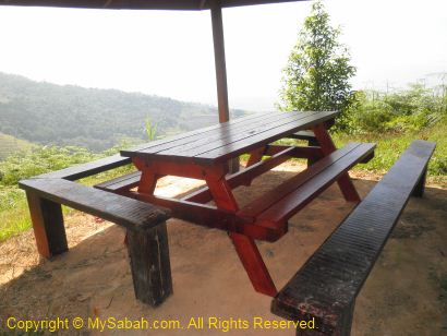 Rusa Shelter in pine trail