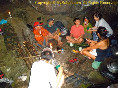 Chatting in Sambatang Cave