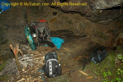 Sleeping in Sambatang Cave