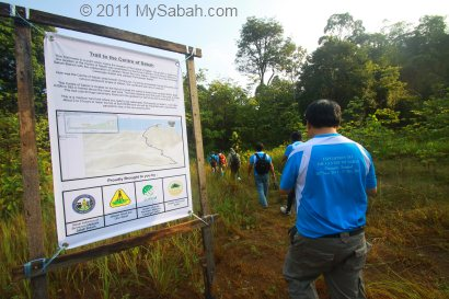 start hiking to Center of Sabah