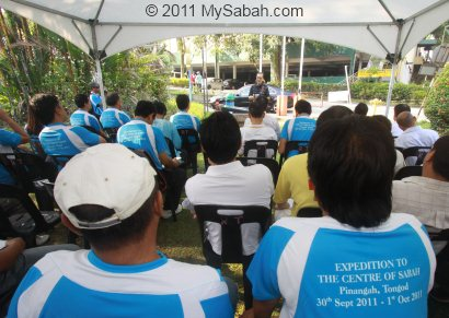 Flag off ceremony of Center of Sabah