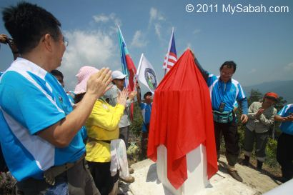 unveiling of Center of Sabah Monument