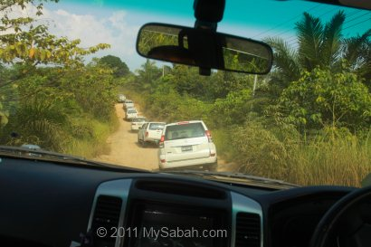 gravel road to Center of Sabah