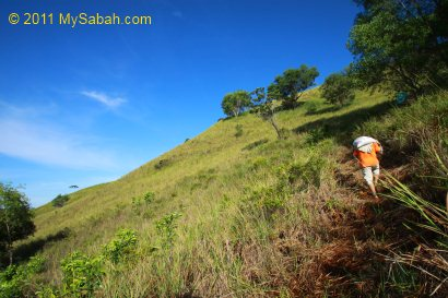 trail to Gundul Hill