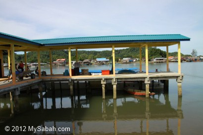 jetty at Abai Village, Kota Belud