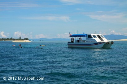 snorkeling at Mantanani Besar near sand bar