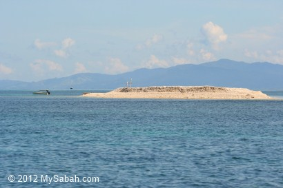 sand bar near Mantanani Island