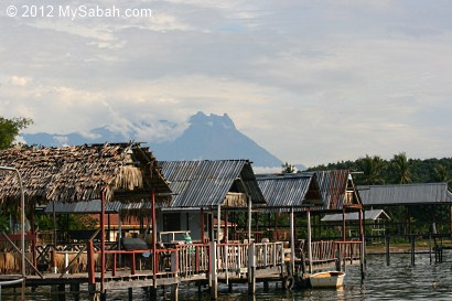 View of Mt. Kinabalu at Kg Abai