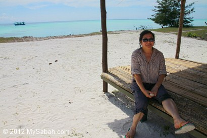 shelter of Pulau Mantanani