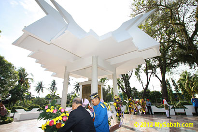 annual memorial service at Petagas War Memorial Garden