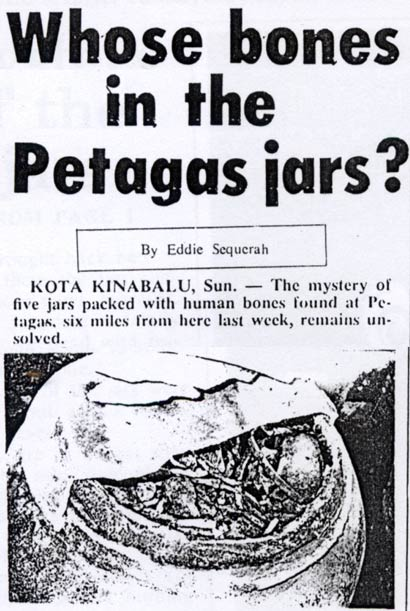whose bones in the Petagas jars