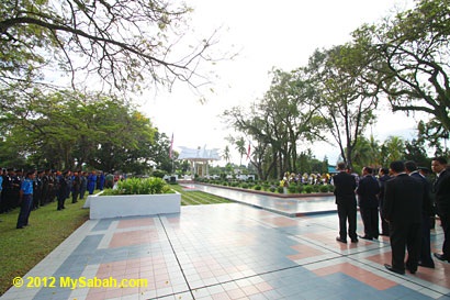 memorial service at Petagas War Memorial Garden