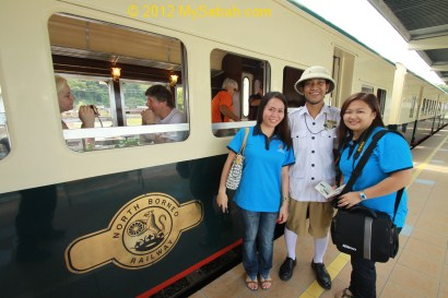 happy tourists of North Borneo Railway