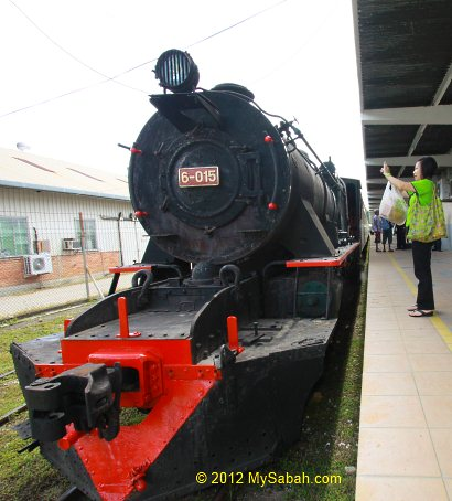 steam train of North Borneo Railway