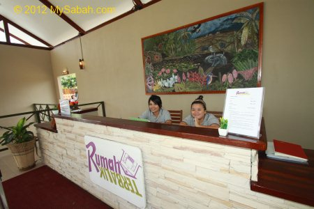 ticketing counter of Rumah Terbalik