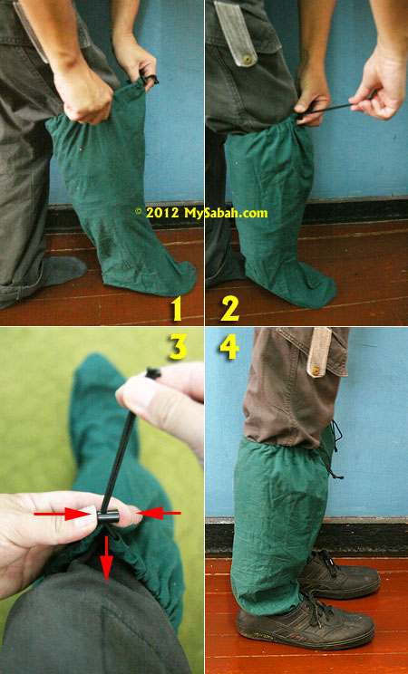 how to wear leech socks
