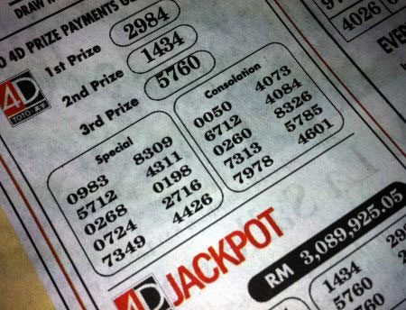 4-digit and jackpot lottery