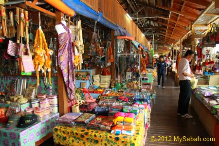 handicraft corridor of Pekan Nabalu