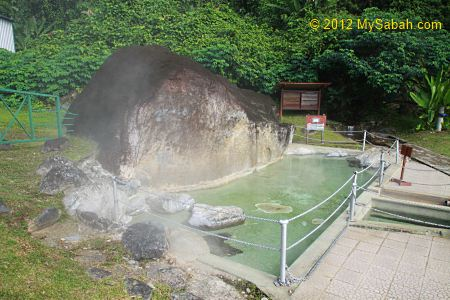 source of Poring Hot Springs