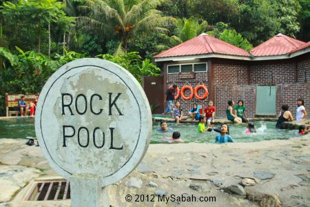 Rock Pool of Poring Hot Springs
