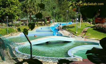 Slide Pool of Poring Hot Springs