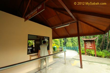 ticket counter of Poring Hot Springs
