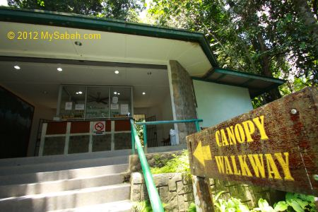 Ticket inspection counter of Poring Canopy Walkway