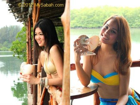 Miss Oriental contestants enjoy fruit juice