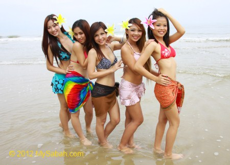 photo shooting for Miss Oriental contestants